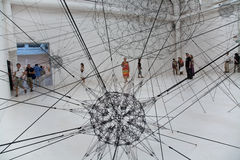 2009年art比安奈尔di exibithion venezia威尼斯 免版税库存照片