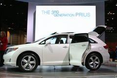 2009年autoshow芝加哥prius丰田 库存照片