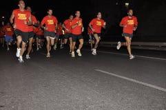 2009年aviv nightrun耐克tel 库存照片