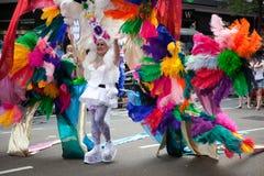 2009年colorfull服装伦敦自豪感 库存图片