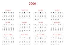 2009日历 免版税库存图片