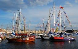 2009波罗地高种族的船 库存照片