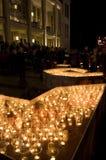 2009第9个节日莱比锡轻的10月 免版税库存图片