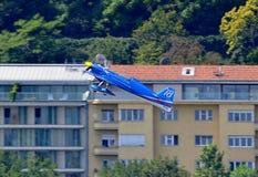 2009航空布达佩斯公牛合格的种族红色&#2279 图库摄影