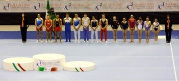2009艺术性的冠军欧洲体操 库存照片
