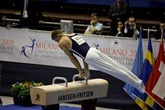 2009艺术性的冠军欧洲体操 免版税图库摄影