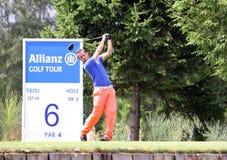 2009高尔夫球马赛厄斯montgaillard prevens trpohee 免版税库存图片