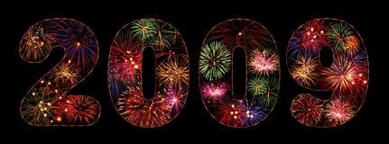 2009 πυροτεχνήματα ελεύθερη απεικόνιση δικαιώματος