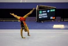 2009 гимнастических художнических чемпионатов европейских Стоковые Изображения
