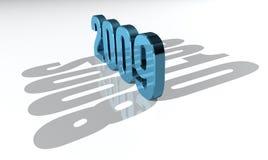 2009 голубых счастливых Новый Год Стоковое Изображение RF