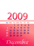 2009 -го декабрь бесплатная иллюстрация