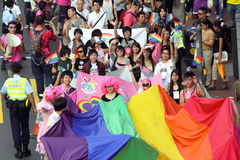 2009年香港游行自豪感 库存照片