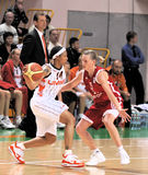 2009 2010 ummc för basketeuroleagueteo vs kvinnor Royaltyfri Foto
