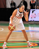 2009 2010 ummc för basketeuroleagueteo vs kvinnor Fotografering för Bildbyråer