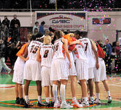 2009 2010 ummc för basketeuroleagueteo vs kvinnor Arkivfoton