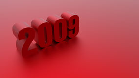 2009 3D image. '2009' 3D image isolated hires Royalty Free Stock Photography