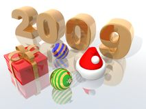 2009. A 3d rendering to celebrate the new year 2009 vector illustration