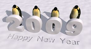 2009. A 3d rendering to celebrate the new year 2009 stock illustration