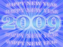 2009. Happy new year card for 2009 royalty free illustration