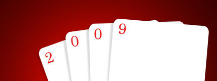 2009. 4 cards with 2009 ,2D art vector illustration