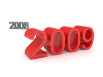 2009. The year 2009 is coming - 3d render stock illustration