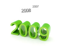 2009. The year 2009 is coming - 3d render Royalty Free Stock Images