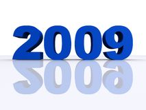 2009. 3d rendered illustration of blue 2009 letters Royalty Free Stock Photos