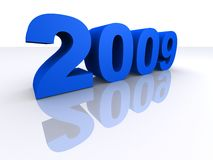 2009. 3d rendered illustration of blue 2009 letters Royalty Free Illustration