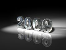 2009. An illustrated, three-dimensional rendition of the numbers for the calendar year 2009 Royalty Free Stock Photos