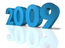 2009. New Year 2009. 3D Render Royalty Free Stock Photo