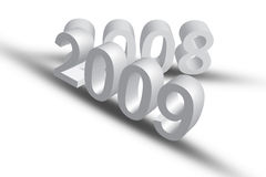 2009. & 2008 with 3D Illustration royalty free illustration