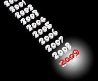 2009. 3d text background - celebrating new year Stock Photos