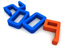 2009. 3d rendered illustration of the numbers 2009 royalty free illustration
