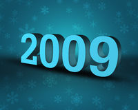 2009. – 3D Illustration with Xmas Theme Background Royalty Free Stock Photography