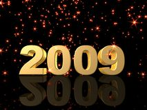 2009. 3d rendered illustration of the number 2009 stock illustration