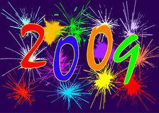 2009. Vector - card new year 2009 Stock Image