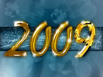 2009. New Year background illustration Stock Photos