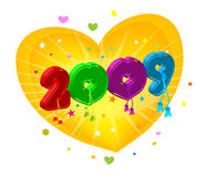 2009. New year 2009 3d creation Stock Images