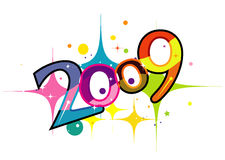 2009. New year 2009 3d creation Stock Photography