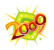 2009. New year 2009 3d creation royalty free illustration