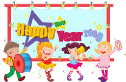 2009. Illustratiion of new year celebrations vector illustration