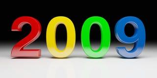 2009 Años Nuevos coloridos Imagen de archivo libre de regalías