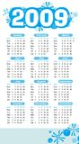 2009 abstract calendar Royalty Free Stock Photography