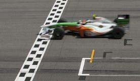 2009 Adrian Sutil bij Maleise F1 Grand Prix Royalty-vrije Stock Foto's
