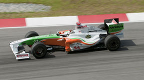 2009 Adrian Sutil at Malaysian F1 Grand Prix Royalty Free Stock Images