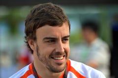 2009 Alonso f1 Fernando που συναγωνίζεται την ομάδα της Renault Στοκ Εικόνες