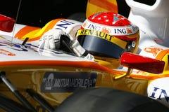 2009 Alonso f1 Fernando Renault Στοκ Εικόνες
