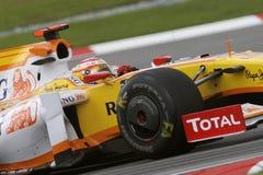 2009 Alonso f1 Fernando Renault zespala się obrazy royalty free