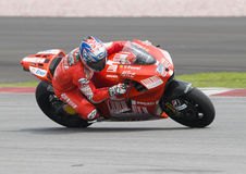 2009 American Nicky Hayden of Ducati Marlboro Royalty Free Stock Photos