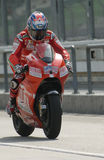 2009 American Nicky Hayden of Ducati Marlboro Team Royalty Free Stock Image